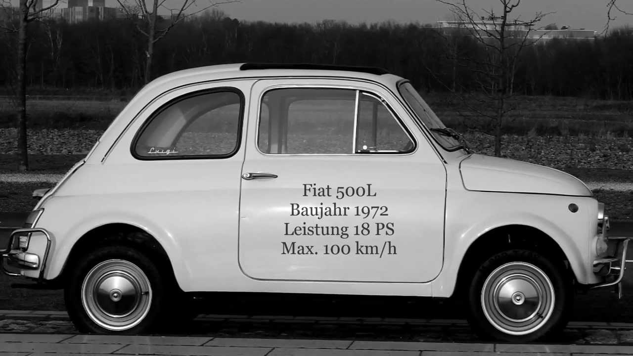 fiat 500 oldtimer luigi youtube. Black Bedroom Furniture Sets. Home Design Ideas