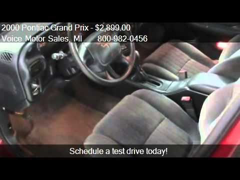 2000 Pontiac Grand Prix SE 4dr Sedan for sale in Kalkaska, M