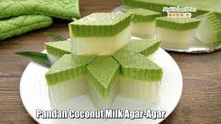Pandan Coconut Milk Agar-Agar   MyKitchen101en