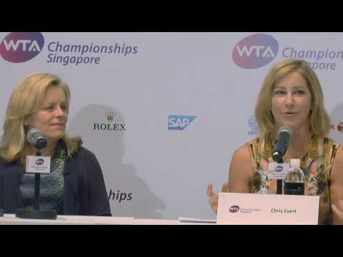 Chris Evert & Eugenie Bouchard on WTA Singapore