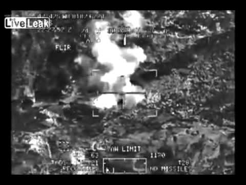LIVE LEAK   US Apaches KILL Multiple TALIBAN Insurgents near Afghan Pakistan Border   NEW 2013 RARE