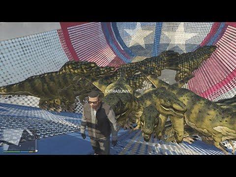 GTA 5 - Xây Dựng Công Viên Khủng Long và Hồ Nuôi Cá Mập