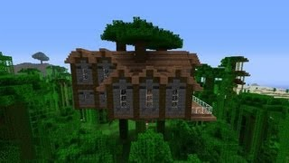 How To Build A Jungle Tree House Mansion In Minecraft
