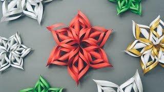 Handimania – Tutorial: 3D Paper Snowflake