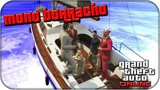Mono Borracho En GTA 5 ONLINE!! Grand Theft Auto 5
