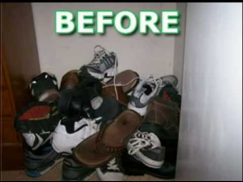 diy build your own shoe rack organizer you can do it youtube. Black Bedroom Furniture Sets. Home Design Ideas