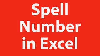 Excel Training Spell Number In Excel