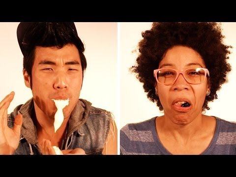 People Eating Foods They Hate In Super Slow Mo