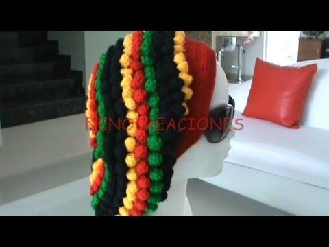 Cómo tejer un gorro rastafari - Imagui