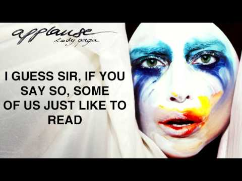 Lady Gaga Applause Lyrics Video [2013 NEW SONG]