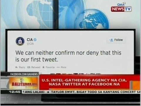 BT: U.S Intel-Gathering agency na CIA, nasa Twitter at Facebook na