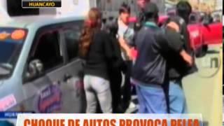 Choque De Autos Provoca Pelea