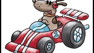 Dibujos animados de coches divertidos para niños