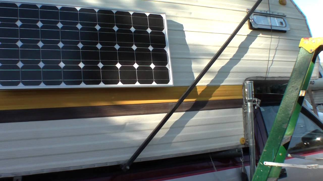Rv Solar Panel Mounting Building A Window Shade Out Of