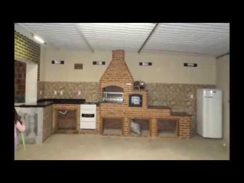 Como fazer sua churrasqueira com forno e fogão à lenha !