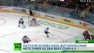Kovalchuk nets first KHL hat-trick