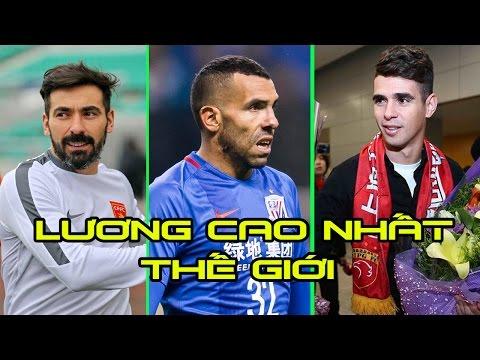 Các cầu thủ nổi tiếng nhận lương cao nhất tại giải bóng đá ngoại hạng Trung Quốc.