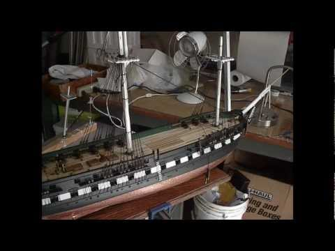 Building Wooden Model Ship USS Constitution by Bill