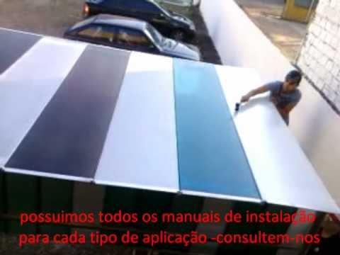 Telhas de Policarbonato - MONTAGEM  CURVA E PLANA- Polysolution