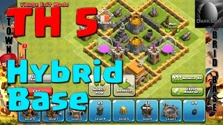 Clash Of Clans: Town Hall 5 Hybrid Base (v 5.6)