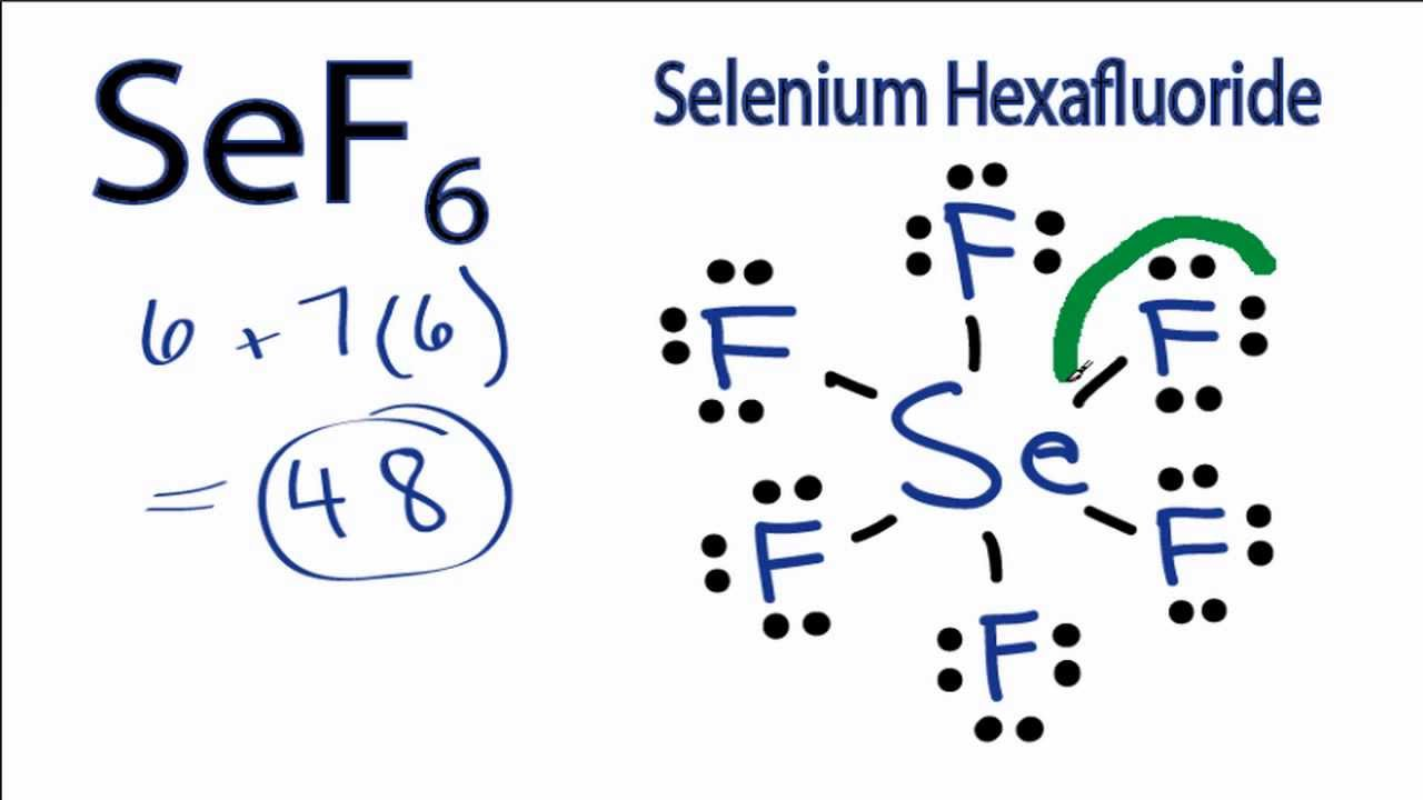 SeF6 Lewis Structure  How to Draw the Lewis Structure for Selenium    P4 Lewis Dot Structure