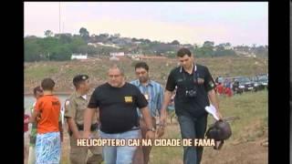 Helic�ptero cai no Lago de Furnas em Fama, no Sul de Minas: duas pessoas est�o desaparecidas