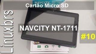 Navcity NT-1711 Cartão Micro SD E Movendo Para SD
