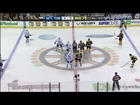 Gardiner Goal - Leafs 3 vs Bruins 2 - Jan 14th 2014 (HD)