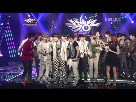 120413 Music Bank today's winner SHINee with EXO Full HD