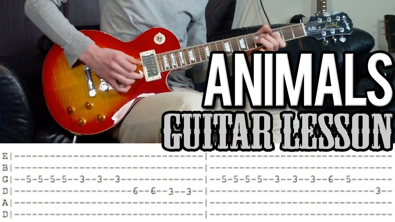 ANIMALS Martin Garrix tab guitar tutorial  YouTube