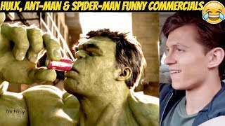 Marvel Superheroes Funny TV Commercials Ft. Tom Holland & Ryan Reynolds