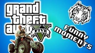 GTA 5 Funny Moments 6 Invincibility Cheat, Super Jump