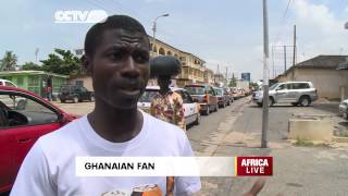 Ghanaian Fan Supports His National Team