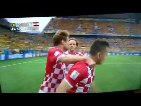 WorldCup 2014 Marcelo Own Goal Brazil 0-1 Croatia !!