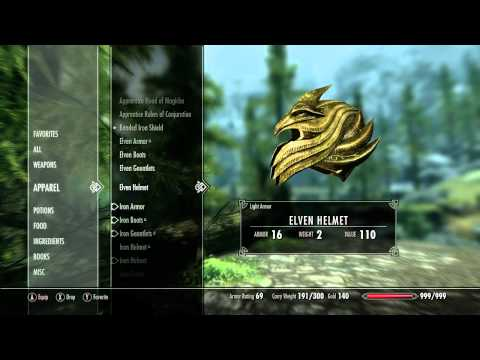 Видео демоверсии Skyrim