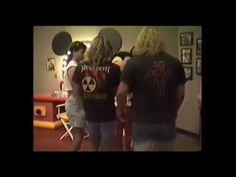 Metalheads at Walt Disney World meet Mickey Mouse; 1990!