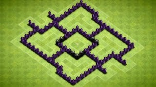 Clash Of Clans Awesome Town Hall 5 Hybrid Base Speed