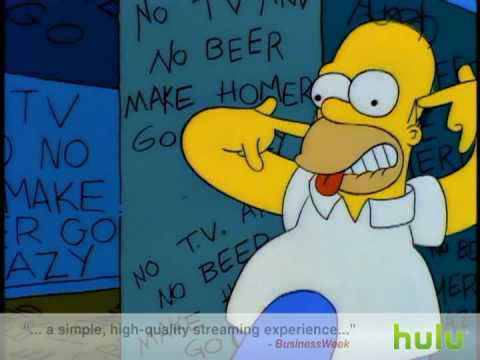 The Simpsons - No Tv and No Beer      - YouTube  , All TV and No Beer make Homer go crazy. S6:Ep6. Halloween Treehouse of Horror V.
