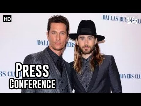 Dallas Buyers Club London Press Conference - Jared Leto & Matthew McConaughey