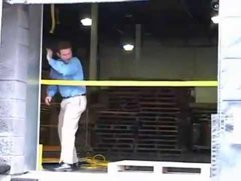 Safety Strap Retractable Dock Door Strap Youtube