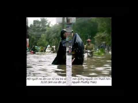 Lụt từ ngã tư đường phố