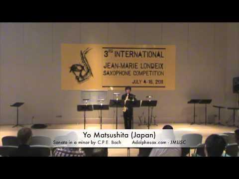 3rd JMLISC: Yo Matsushita (Japan) Sonata in a minor by C.P.E. Bach