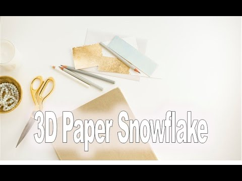 Displaying (17) Gallery Images For 3d Snowflake Template...