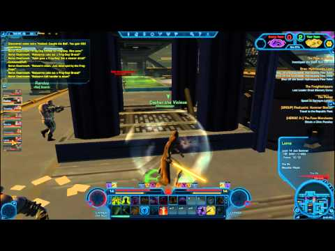 Star Wars: The Old Republic - Jedi Consular/Sage Huttball pvp (SWTOR Beta Gameplay/Commentary)