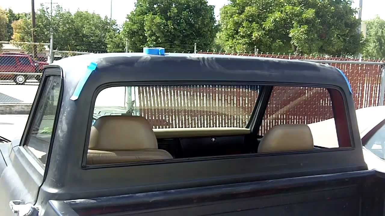 1967 72 Chevy C 10 Flush Fit Back Glass Youtube