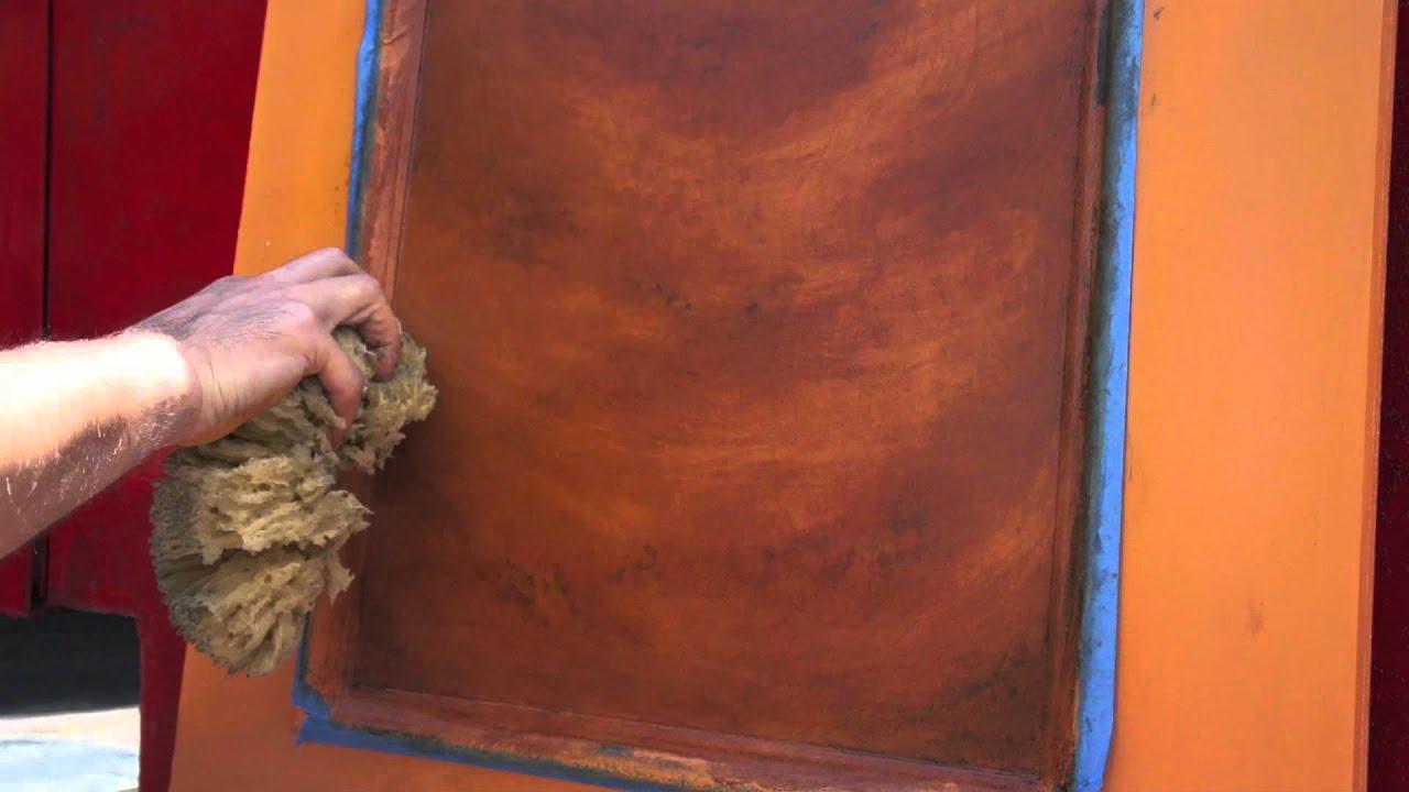 Jeff Pollastro Paints Imitation Wood - YouTube