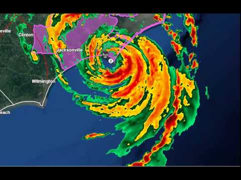 Hurricane Arthur Making Landfall