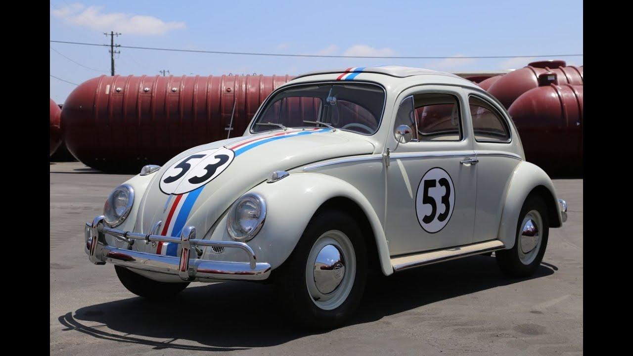 "1963 Volkswagen Beetle ""Herbie"" Drive and Walk Around - YouTube"