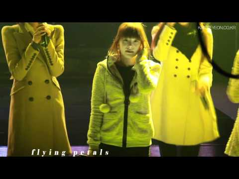 [fancam] SNSD taeyeon 2011 support goods teaser by flying petals