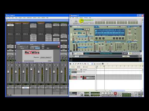 Tutorial on How to Rewire Reason in Pro Tools